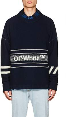 Off-White Men's Logo-Jacquard Wool Sweater