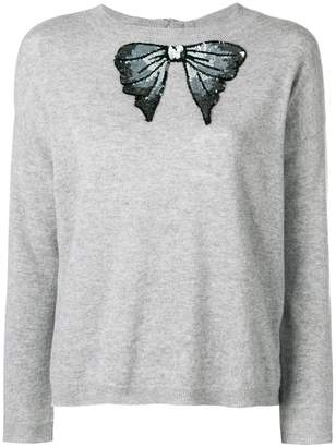 Blugirl sequinned bow tied jumper