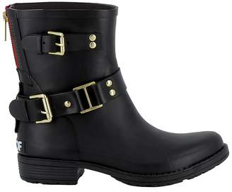 Colors of California Black Rubber Ankle Boots