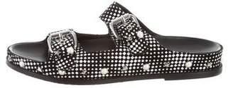 Stuart Weitzman Studded Sandbar Slide Sandals w/ Tags