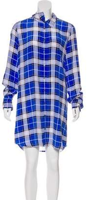 Equipment Plaid Silk Shirtdress
