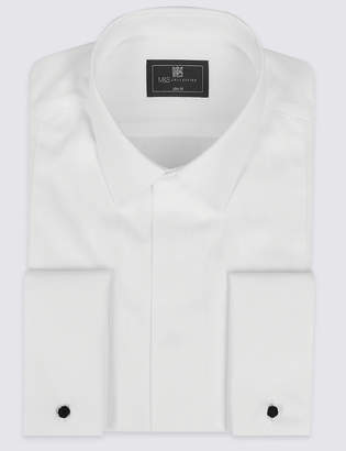 Marks and Spencer Cotton Blend Slim Fit Dinner Shirt