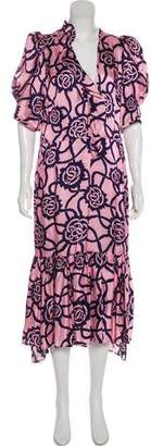 Dries Van Noten Silk Printed Dress