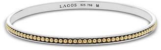 Lagos 18K Gold and Sterling Silver Enso Bangle Bracelet