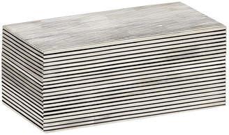 Mela Artisans Pinstripe Box - Black/White