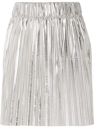 Etoile Isabel Marant Delpha Plissé-lamé Mini Skirt - Silver