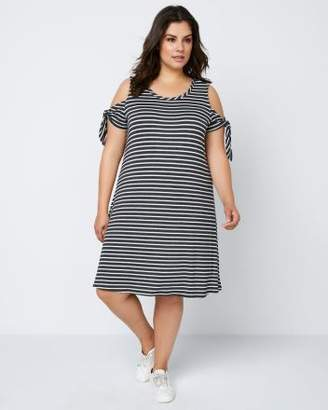 Penningtons ONLINE ONLY - Printed Swing Dress with Cold-Shoulder - In Every Story