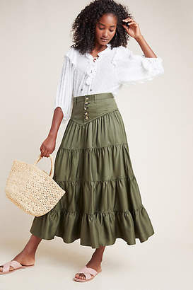 Maeve Lainey Tiered Maxi Skirt