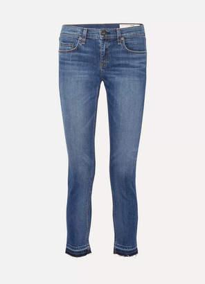 Rag & Bone The Dre Capri Frayed Mid-rise Slim-leg Jeans