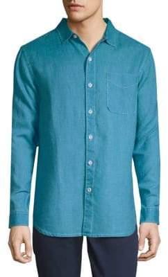 Classic Linen Button-Down Shirt