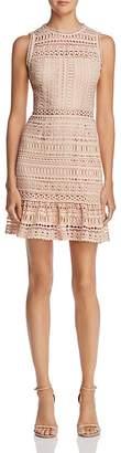 AQUA Flounce-Hem Lace Dress - 100% Exclusive $98 thestylecure.com
