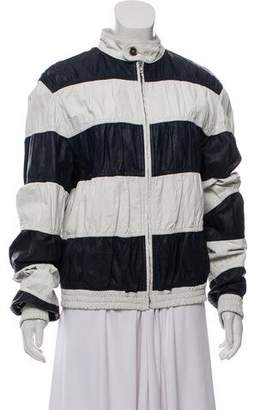 Burberry Striped Leather Jacket