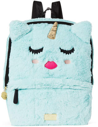 Betsey Johnson Luv Betsey By Sea Foam Sienna Unicorn Plush Backpack