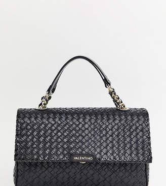 Mario Valentino Valentino By Valentino by black woven chain strap shoulder bag