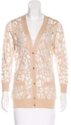 Magaschoni Leopard Knit Cardigan