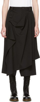 Yohji Yamamoto Black Drape Apron Trousers $1,140 thestylecure.com