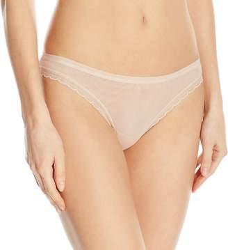OnGossamer Women's Next to Nothing Mesh Low-Rise Thong Panty