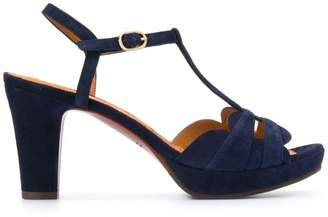 Chie Mihara blue suede sandals