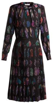 Altuzarra Falcon Feather Print Dress - Womens - Black Print