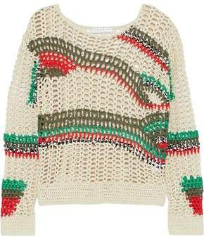 Sandro Isis Open-Knit Cotton-Blend Sweater