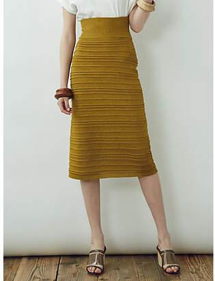 LAGUNAMOON (ラグナムーン) - LAGUNAMOON リネンライクタックボーダーニットスカート