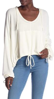 Free People V-Neck Yella Knit Hoodie