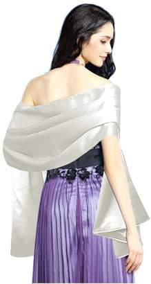 L'vow Women's Satin Evening Scarves Bridal Cape Wedding Shawl Wraps Pashmina