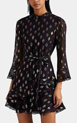Saloni Women's Marissa Silk-Blend Fil Coupé Minidress