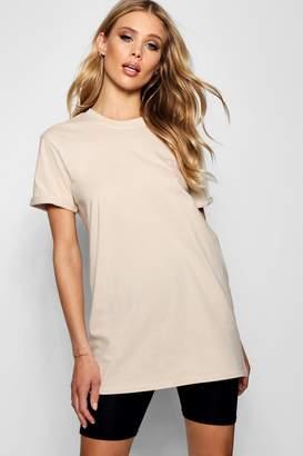 boohoo Kayleigh Oversized Cuff T-Shirt