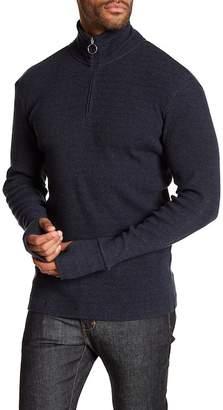 Theory Rib Half Zip Plaited Sweater