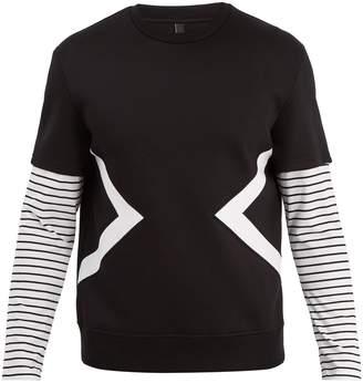 Neil Barrett Modernist striped sleeve sweater