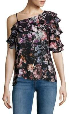 Parker One Shoulder Printed Blouse