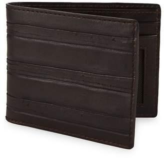 John Varvatos Men's Clawed Textured Leather Bi-Fold Wallet