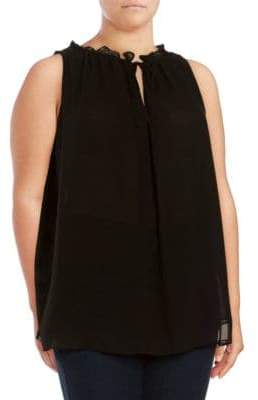 Max Studio Plus Size Solid Sleeveless Blouse