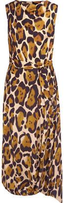 Vivienne Westwood Anglomania - Vasari Leopard-print Jersey Midi Dress - Leopard print