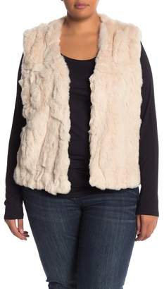 Bagatelle Genuine Dyed Rabbit Fur Vest (Plus Size)