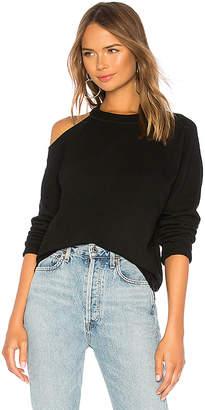 Monrow Cold Shoulder Vintage Pullover