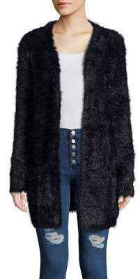 Free People Long Open Faux Fur Cardigan