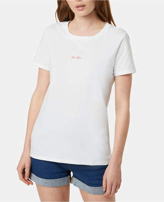 French Connection Cotton Be Nice Embroidered T-Shirt