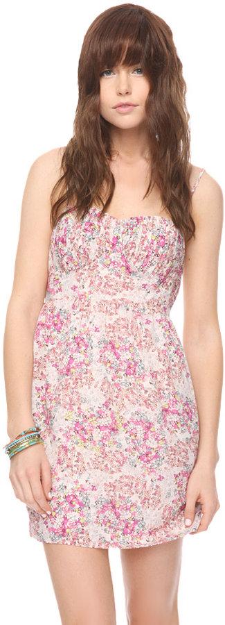 Forever 21 Floral Sweetheart Tube Dress