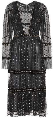 Dodo Bar Or Embroidered tulle dress