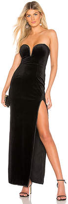About Us Lilly Sweetheart Velvet Maxi Dress