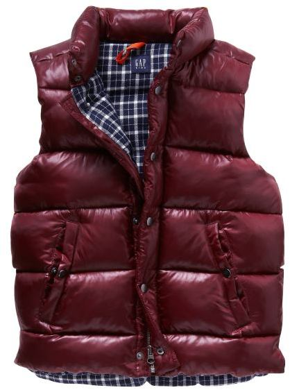 Flannel-lined puffer vest