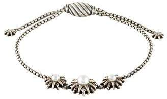 David Yurman Pearl Starburst Three Station Bracelet