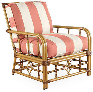 One Kings Lane MImi Lounge Chair - Coral Sunbrella
