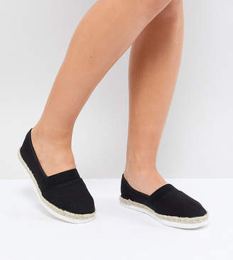 New Look Wide Fit Basic Espadrille