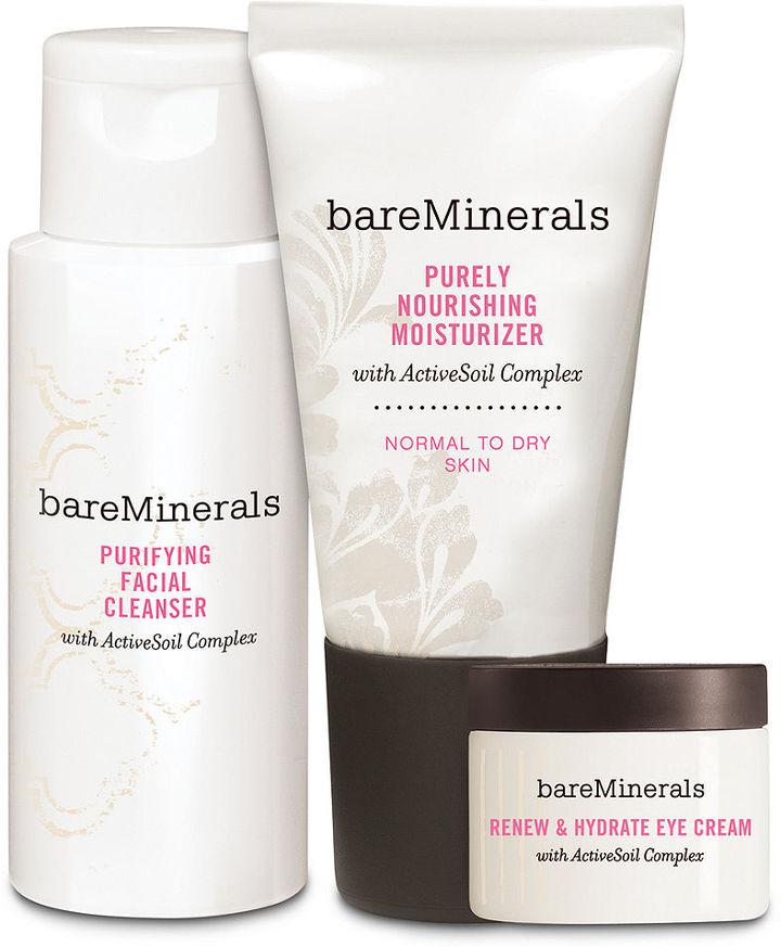 bareMinerals Bare Escentuals Daily Skin Renewing Trio Set- Normal to Dry Skin