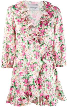 Couture Forte Dei Marmi floral satin wrap dress