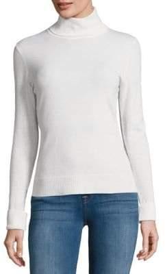Lafayette 148 New York Long Sleeve Wool Turtleneck Sweater
