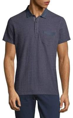 Saks Fifth Avenue Textured Chambray Polo